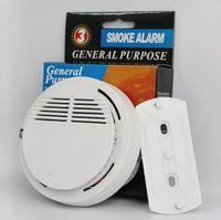 كاشف الدخان إنذارات نظام الاستشعار إنذار الحريق كاشفات لاسلكية منفصلة أمن الوطن حساسية عالية مستقرة LED مع بطارية 9V