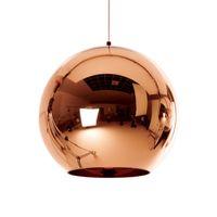 Moderno oro sillver rame placcato sfera di vetro singolo globo lampada a sospensione E27 supporto per sala da pranzo bar negozio di arredamento