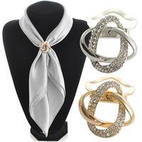 2 в 1 двойного назначения шарф аксессуары ювелирные изделия позолоченные сплава шпагат шарф клип брошь для шарф горный хрусталь брошь
