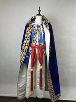 Mens Zeitraum Kostüm Stickerei Kragen Mantel Mittelalter Bühnenshow / Prince charmante Fee William / Bürgerkrieg / Colonial Belle