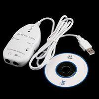 Freeshipping Yeni Gitar USB Arabirim Bağlantı Kablosu PC / MAC Kayıt CD Sürücü ile kayıt siyah veya beyaz