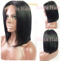 Short Brazilian Hair Wigs For Black Women Natural Color Silk...