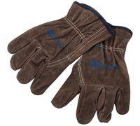 Cor de café couro trabalho de soldagem mecânica resistente ao desgaste de trabalho seguro luvas industriais