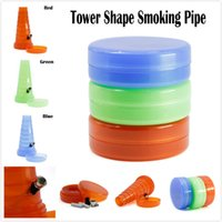 Plastic Stretch Tower Shape Smoking Pipes Shisha Travel Smok...