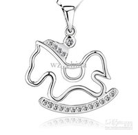 925 Sterling Silver Pendant Trojans Necklace Charms Exaggera...
