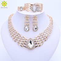 african beads jewelry sets for women big choker nigerian wedding fashion dubai gold plated party costume bridal jewelry