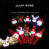 10Pcs Flash LED Christmas Snap Bracelet Bangles for Kids, Sa...