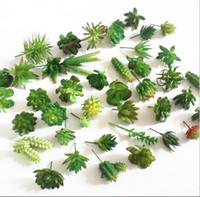 Moda Sıcak Simülasyon Succulents Yapay Çiçekler Süsler Mini Yeşil Yapay Succulents Bitkiler Bahçe Dekorasyon