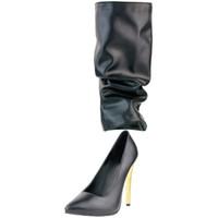 Kolnoo Bayanlar El Işi Yüksek Topuk Pompaları Slip-on Parti Balo Sivri Burun Hoodup Deco BFCM XD514 Için Büyük Boy Moda Ayakkabı