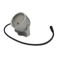 850nm 48 IR LED Illuminatore a infrarossi Illuminatore IR Night Vision per telecamere di sicurezza CCTV Riempire illuminazione cupola grigio metallo Spedizione gratuita