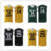 Version du film Jersey Jersey Jersey de basket-ball Fresh Prince # 14 Will Smith Maillots Carlton Banks Jerseys # 25 Bel Air academia Jersey