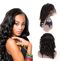 Malaysian Natural Hairline With Baby Hair Loose Wave 360 Lac...