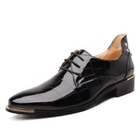 Mode Populaire En Cuir Verni Hommes Chaussures Marque Casual Oxfords Chaussures Respirant Hommes Appartements Chaussures Grande Taille Hommes Mocassin Bleu 8