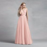 새로운! Tulle Surplice V-Neck 신부 들러리 드레스와 레이스 다시 vw360322 웨딩 파티 드레스 이브닝 드레스 공식 드레스