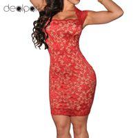 Cuerda bodycon Mujer vestido de slash cuello vintage otoño señoras noche fiesta mini vestido slim sexy club vendaje vestido Vestido Q1113