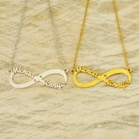 Personalized Infinity Necklace Two Name Necklace Friendship ...