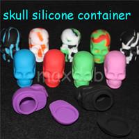 Pot de silicone de la forme du crâne 15ml Conteneur en silicone antiadhésif silicone de qualité alimentaire personnalisé petit récipient de cire dab