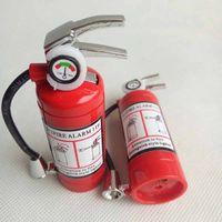 소화기 스타일 부탄 제트 라이터 시가 담배 LED 손전등 재충전 가스 금연 도구 라이터 없음