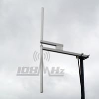Antena dipolo de radiodifusión FM 87.5-108MHz max 1200W / 20m cable L16