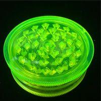 Günstige 2,63 Inch Fluorescent Grün Acryl Herb Grinders 3-teilig Kunststoff Herb Grinders Smoke Herb Grinders Fress Verschiffen World Wide