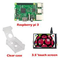 """Freeshipping RS Raspberry Pi 3 Model B Board +3.5 """"LCD Touch Screen Display con stilo + Custodia in acrilico per Raspberry pi 3 kit"""