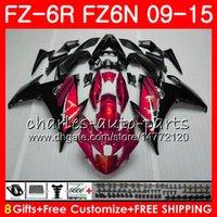 Corps pour YAMAHA FZ6N FZ-6N TOP rouge perle FZ6R 2009 0 2011 2012 2013 2014 2015 82NO43 FZ-6R FZ6 R FZ 6N FZ 6R 09 10 11 12 13 14 15 Carénage