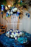 Kristall-Mittelstücke für Hochzeitstafelsäulen