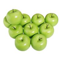 Wholesale-CSS 12pcs ديكور كبير الاصطناعي التفاح الأخضر البلاستيك الفواكه حزب ديكور المنزل