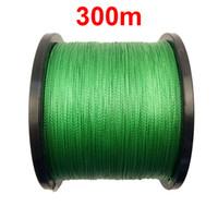 Оптовая продажа-300 м 328 ярдов 100% PE плетеный леска зеленый 4 пряди Кос Мультифиламентная леска 15 фунтов-100 фунтов морской рыбы проволока