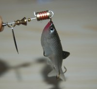 Head Hook Sequins Soft Lure Bait Wobbler Bionic Spinner Jigg...