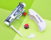 Ménage mini machine à coudre manuelle machine à coudre portable poche portable mini machine à coudre