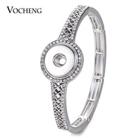 NOOSA Ginger Snap Jewelry pulsera elástica con cristal para 18mm Snap Charms Button Jewelry NN-635