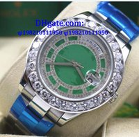 2017 Alta calidad Nuevas llegadas Día Fecha Presidente WHITE GOLD Índice Verde Rehaut 118348 - WATCH CHEST Reloj Mujer Automático W