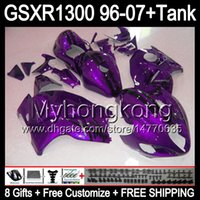 8ギフトHAYABUSA GSXR1300 96 97 98 99 00 01 Purple 13My136 GSXR 1300 GSX-R1300 GSX R1300 02 03 04 05 06 05 06 07 07フェアリングトップ光沢ブラック