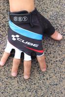 2021 مكعب برو فريق الصيف الدراجات hlaf قفازات الاصبع ركوب الدراجات اكسسوارات B7