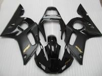 Gratis 7 presenter Fairings för Yamaha YZF R6 98 99 00 01 02 Svart Motorcykel Fairing Kit YZFR6 1998-2002 OT30