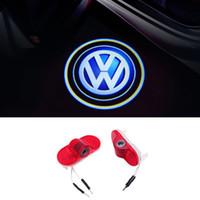 LED Voiture Porte Courtoisie Laser Logo Projecteur Lumières Pour Volkswagen VW Caddy Touran Golf 4 MK4 Beetle Bora3