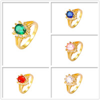 Luxury Mix Color New Arrival 24K Yellow Gold Plated Rings Fi...