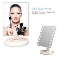 حار بيع المهنية مربع مضاءة مستحضرات التجميل يقف مرآة نمط هوليوود مكبرة أدى مرآة ماكياج مع الصمام