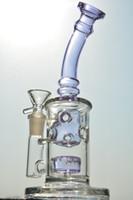 violet oeuf en verre bangs recycleur dab Rigs tuyaux d'eau en verre tuyau de fumer 2 fonction 14 mm joint