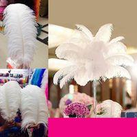 도매 - 200pcs 많이 15-20cm 결혼식을위한 웨딩 센터 테이블 파티 장식 블랙 타조 깃털 깃털 (무료 배송) JF - 015