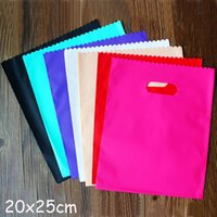 Colorful Plastic Gift Bags, Plastic shopping bags 20x25cm