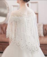 Vendita calda di trasporto libero sposa scialle di pizzo garza set coclea avvolge Giacche accessori abito da sposa shuoshuo6588