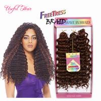 10 polegadas freetress preloop crochet extensões de cabelo brasileiro feixes de cabelo savana jerry Encaracolado sintético trança de cabelo para os EUA, REINO UNIDO