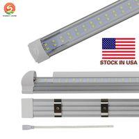 8FT LED T8 трубы Двухрядные 8 футов T8 интегрированы светодиодные лампы 65W 72W 7200LM 2.4M SMD2835 Светодиодные люминесцентные лампы освещения