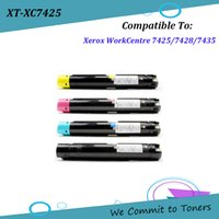 4PK SET Xerox 7425, Compatible Toner Cartridges for XeroxWor...