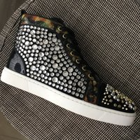 New 2018 Mens Womens Big Rhinestones With Glitter Side High ...