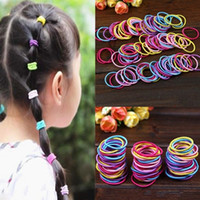 100Pcs lot Korean Fashion Colorful Elastic Hair Ropes Hair T...