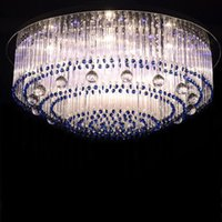 Sapphire led crystal lamp round glass barswarovski crystals ...