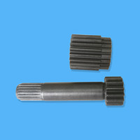 Sun Gear Shaft 1st 2028798 and Sun Gear 2nd 3043237 for Final Drive Travel Gearbox Fit Excavator EX135 EX120-2 EX120-3 EX120-5